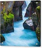 Glacier Gorge Acrylic Print