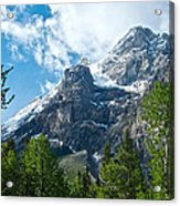 Glacier Seen From Kicking Horse Campground In Yoho Np-bc Acrylic Print