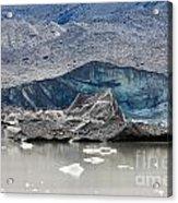 Glacier Tongue Calfing Icebergs Into Glacial Lake Acrylic Print