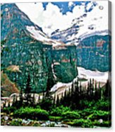 Glaciers Along Plain Of Six Glaciers Trail In Banff Np-alberta Acrylic Print
