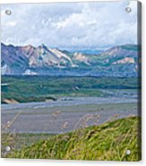 Glaciers And Mountains From Eielson Visitor's Center In Denali Np-ak  Acrylic Print