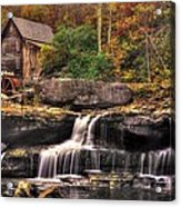 Glade Creek Grist Mill 1a - Autumn Late Afternoon Babcock State Park Wv Acrylic Print