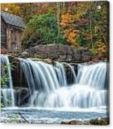 Glade Creek Grist Mill And Waterfalls Acrylic Print