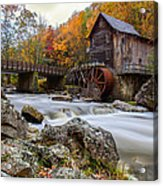 Glade Creek Grist Mill-babcock State Park West Virginia Acrylic Print by Dick Wood