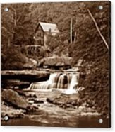 Glade Creek Mill In Sepia Acrylic Print