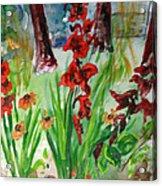 Gladioli-2 Acrylic Print by Vladimir Kezerashvili