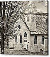 Glady Presbyterian Sepia Acrylic Print