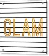 Glam Pinstripe Gold Acrylic Print