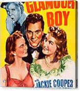 Glamour Boy, Top Jackie Cooper, Bottom Acrylic Print