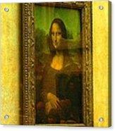 Glance At Mona Lisa Acrylic Print