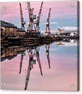 Glasgow Cranes With Belt Of Venus Acrylic Print