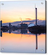 Glasgow Waterfront At Dawn Boxing Day Acrylic Print