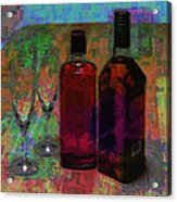 Glass And Liquor Acrylic Print