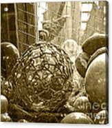 Glass Balls Japanese Glass Buoys Acrylic Print