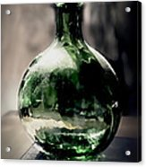 Glass Bottle Acrylic Print by Danuta Bennett