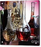Glass Decanters And Glasses Acrylic Print