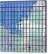 Glass Facade Houston Tx Acrylic Print by Christine Till