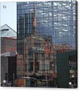 Glass Facade Reflection - Aquarium Baltimore Acrylic Print