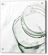 Glass Jars - High Key Acrylic Print