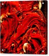 Glass Macro Abstract Crimson Swirls Acrylic Print