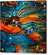 Glass Macro Abstract Rto Acrylic Print by David Patterson