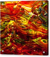 Glass Macro - Burning Embers Acrylic Print