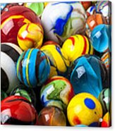 Glass Marbles Acrylic Print by Garry Gay