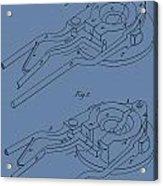 Glass Mold Patent On Blue Acrylic Print