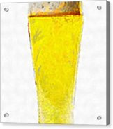 Glass Of Beer Painting Acrylic Print