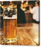 Glass Of Bier, Brewery In Germany Acrylic Print