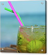 Glass Of Mojito Cocktail By Tropical Acrylic Print
