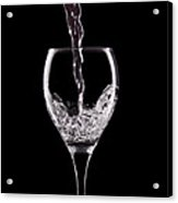 Glass Of Water Acrylic Print by Tom Mc Nemar