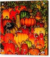 Glass Pumpkins Acrylic Print
