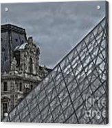 Glass Pyramid And Louvre Museum Paris Acrylic Print