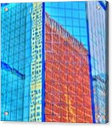 Glass Reflections Acrylic Print