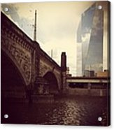 Glass View Acrylic Print by Katie Cupcakes