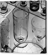Glasses And Crystal Vases By Walter D Teague Acrylic Print
