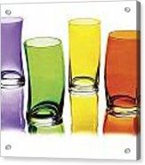 Glasses-rainbow Theme Acrylic Print