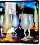 Glassware Acrylic Print by Bobbi Feasel