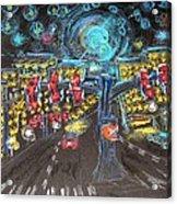 Glaucoma Starry Night Acrylic Print