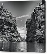 Glen Helen Gorge-outback Central Australia Black And White Acrylic Print