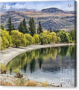 Glendhu Bay Lake Wanaka With Autumnal Trees Acrylic Print