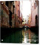 Gliding Along The Canal  Acrylic Print