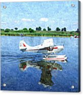 Gliding Between Two Worlds Acrylic Print