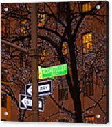 Glistening Branches On The Plaza Acrylic Print