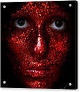 Glitter Face Acrylic Print