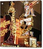 Glitter Gulch In Las Vegas Acrylic Print