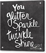Glitter Sparkle Twinkle Acrylic Print by Linda Woods