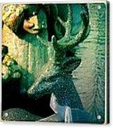 Glittered Deer Acrylic Print