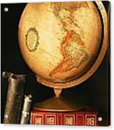 Globe And Books Acrylic Print by Don Hammond